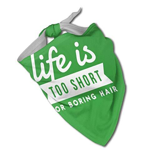 Life is Too Short für langweilige Haare, Halstuch für Hunde, Dreieckstuch, Lätzchen, Schals, Accessoires, Haustiere, Katzen und Babywelpen, Speicheltuch