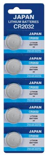 Panasonic Knopfzelle 5X CR2032, Lithium 220 mAh 3,0 Volt, Verpackung = 5er Blister