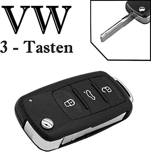 JURMANN ab Baujahr 2009 Schlüssel Gehäuse Klappschlüssel 3 Tasten VWKS46 Amarok Beetle Caddy IV Golf VI Jetta IV Polo 6R Scirocco Sharan Tiguan Touran T5 T6