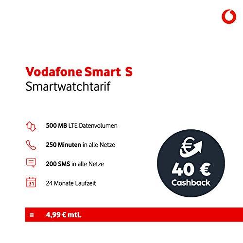 Vodafone S Aktion Smartwatchtarif (500 MB Datenvolumen, 250 Freiminuten, 200 Frei SMS, 24 Monate Mindestlaufzeit), rot