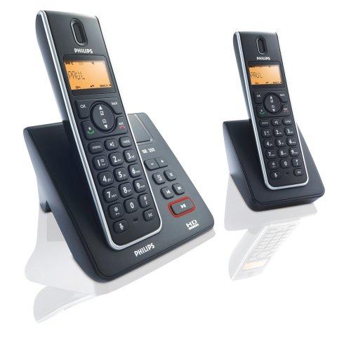 Philips SE 2552 B/38 Schnurlostelefon (HD Sound, Monchrom Display, Anrufer-ID, 150 Stunden StandBy-Zeit) schwarz