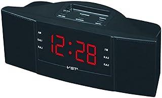 Renfengchui antik am/Fm elektronisk radioklocka med väckarklocka och snooze-funktion, modern Ps/Abs kropp LED digital disp...
