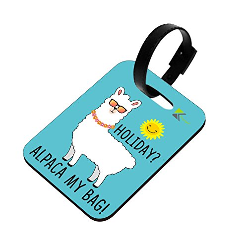 LT097 Holiday? Alpaca My Bag! Novelty Funny Unique Designer Gift Glossy MDF Wooden Suitcase Luggage Tag
