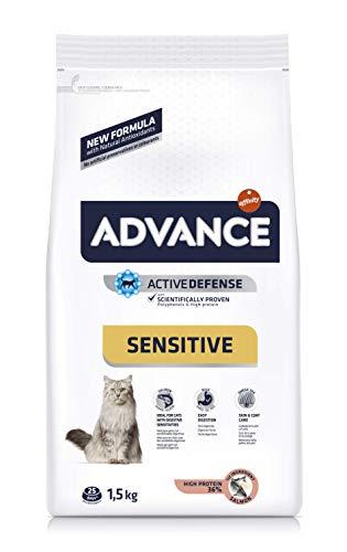 Advance Sensitive para gato adulto con salmón y arroz 1,5 kg