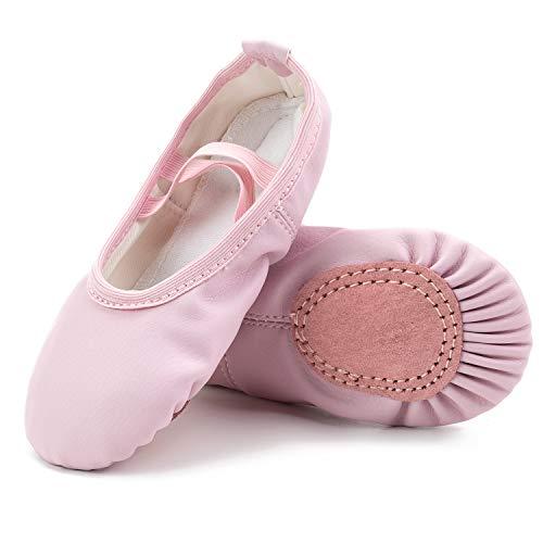 L-Run Ballett Ballerina Tanz Gymnastik Sport Hallen Trainings Schläppchen Schuhe Leder Kinder Damen Pink, EU 31