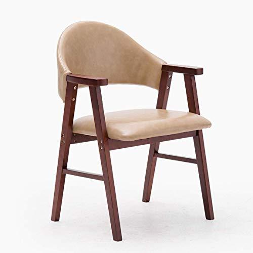 Carl Artbay eetkamerstoel, moderne eenvoudige studiestoel, rugleuning, vrijetijdsstoel, trendy bureaustoel, mooi en duurzaam