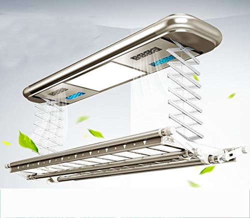 NANXCYR elektrische lavanderia plafondgordijn, elektrische kweek met afstandsbediening, led-verlichting, uv-desinfectie, negatieve luchtreiniging, champagne 9003S
