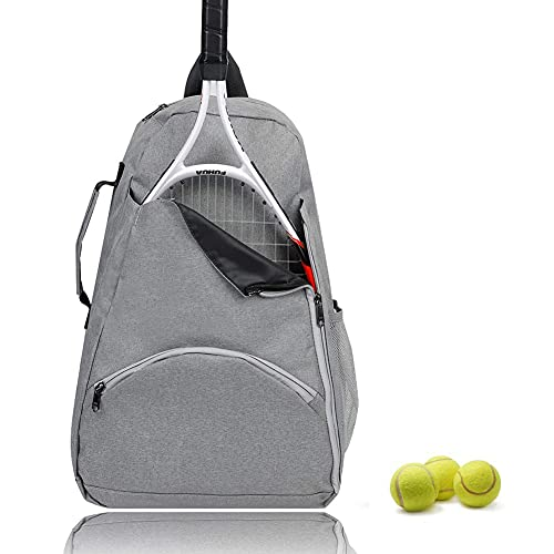 Tennis Bag Tennis Backpack - Tennis Bags for Women and Men to Hold 1 or 2 Tennis Rackets Racquets, Multifunctional Sports Bag