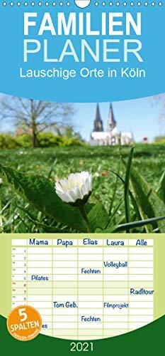 Lauschige Orte in Köln - Familienplaner hoch (Wandkalender 2021, 21 cm x 45 cm, hoch)