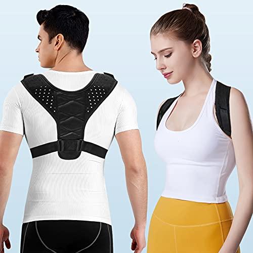 NewX Haltungskorrektur Rückenstütze Haltungskorrektor für Männer und Frauen Haltungstrainer Rückenglätter Rückengeradehalter Effektiv für Nacken Rücken Schultergurt Haltungsschmerzen