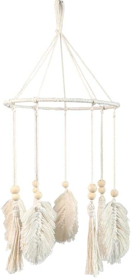 Unknows Hanging Ornament Nordic Boho Tassels Ch Max 77% OFF Woven Ranking TOP8 Wind Leaf