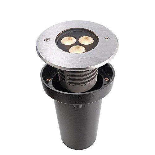 Spot extérieur encastrable sol à LED, spannungskonstant, symétrique, 24 V DC, 6 W EEK : B