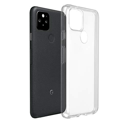 ROVLAK Funda para Google Pixel 5 Silicona Case Transparente Clear Cover Ultra Delgada Ligera Antigolpes Carcasa Anti-arañazos Estuche TPU Silicona Phone Case para Google Pixel 5