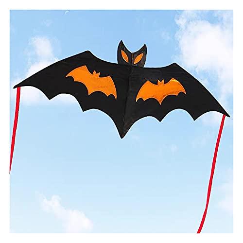 Aquilone a forma di pipistrello, aquilone per adulti e bambini, adatto per viaggi in spiaggia, parco, giochi e attività all'aperto per famiglie, facile da pilotare