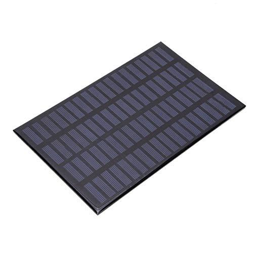 Alomejor Panel Solar policristalino de 2.5W 18V Ideal para Panel de Carga de Cargador de energía DIY Paneles de Carga al Aire Libre