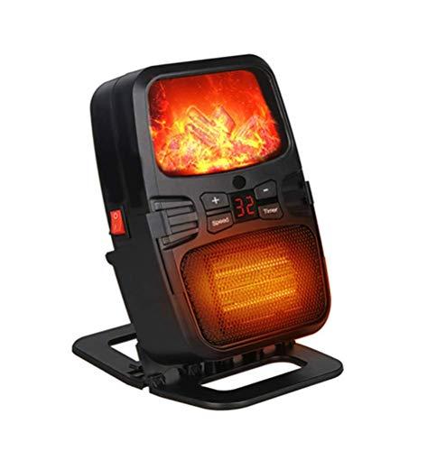 YLJYJ Raumventilatorheizungen tragbare elektrische Mini-Heizung mit 3D-Kaminflamme Überhitzung und Umkippschutz Wandsteckerhalterung cera (elektrische Kamine)