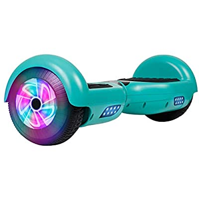 """Felimoda Hoverboard UL 2272 Certified Flash Wheel 6.5"""" with LED Light Self Balancing Wheel Electric Scooter (Green)"""