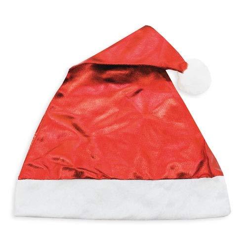 Lote 20 Gorros de Navidad ROJO METALIZADO. Gorros de navidad metalizados baratos....