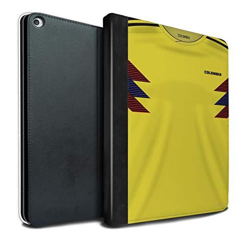 eSwish PU Cuero Funda/Carcasa/Folio Libro en para el Apple iPad Pro 12.9 2015/1st Gen Tablet/Serie: Copa Mundo 2018 Camiseta Futbol - Colombia/Colombiano