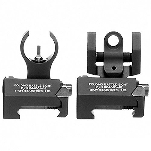Troy Industries Micro Tritium HK Style Front and Rear Set Battle Sight...