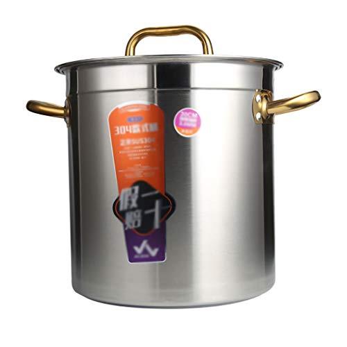Pottine, 304 Acero Inoxidable Espesado, Olla De Sopa Grande For El Uso...