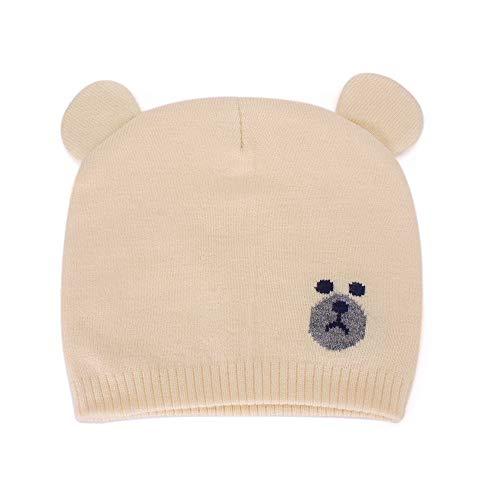 MK Matt Keely Unisex Baby Wintermütze mit Ohren, warme Mützen für Herbst und Winter, 0-12 Monate Gr. Einheitsgröße, gelb