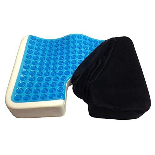 Warmiehomy Memory Foam Seat Cushion -Lumbar Pillow Cushion Relieve Back, Prostate, Sciatica, Tailbone & Hip Pain For Office Chairs,Car Seat,Recliner, Wheelchair,Pressure Relief