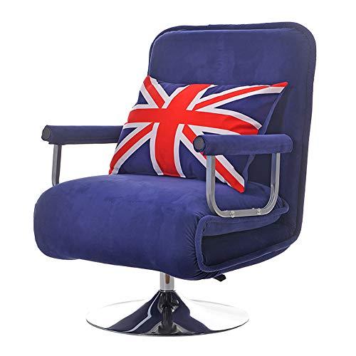 XIAMIMI 360 Grad-Schwenker Video Rocker Gaming Chair einstellbare Winkel Stuhl Klappboden Stuhl-Wohnzimmer-Möbel Ergonomisches Design,Lila