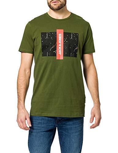 Jack & Jones JCOBASTI tee SS SH Camiseta, Rifle Green/Fit: reg, XL para Hombre
