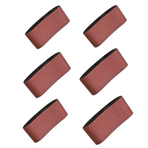 Sanding Belts 2-1/2x16, Aluminum Oxide Abrasive Sandpaper for Belt Sander, 2 Each of 40 80 120 150 240 400 Grit,12 Pack