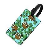 Etiqueta de equipaje ajustable para niños, etiquetas identificadoras de bolsa con cubierta de privacidad, accesorios de etiqueta de viaje para maleta, avión, mochilas, perezosos azules
