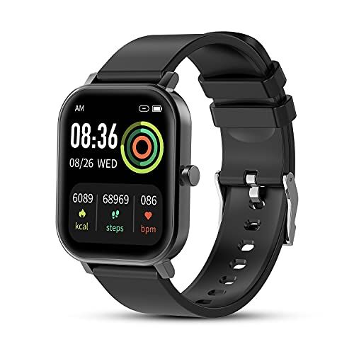 Fitness Tracker for Men, Smart Watch for Android Phones and iOS, 1.69' Full Touch Screen Waterproof Smartwatch, 24 Sports Modes with Heart Rate Monitor, Sleep Tracker, Message Call Reminder, Stopwatch