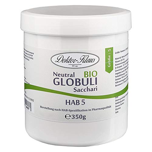 BIO Neutral Globuli Doktor-Klaus 350g Grösse HAB 5, 100% reine Saccharose inÖko-Tüte