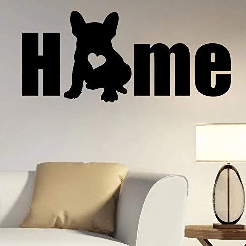 Dog Silhouette Wall Vinyl Panel French Bulldog Animal Wall Decoration pet Salon Wall