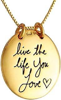 Colgante con Medalla de Oro con la inscripción Vivir la Vida Que el Amor - Vive la Vida Que el Amor - Día de Regalo de la ...