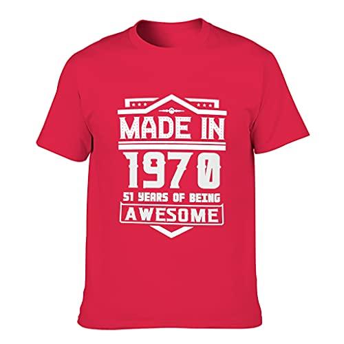 Camiseta de algodón para hombre, fabricada en el año 1970, popular y moderna – Top para ciclismo Red1 XXL