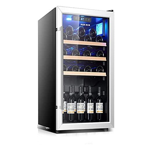 Cantina Armadio per Vino da 28 Bottiglie, Frigorifero da Vino da appoggio, Vino Domestico Indipendente, refrigerazione del compressore, Porta in Vetro temperato