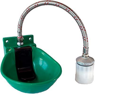 ListeLister Weidefassanbautränke SB 1 WN Kunststofftränkebecken für Pferde und Rinder mit Niederdruckventil für Wasserfässerr 00-0051000 Tränke Anbautränke für IBC-Wasserfässer