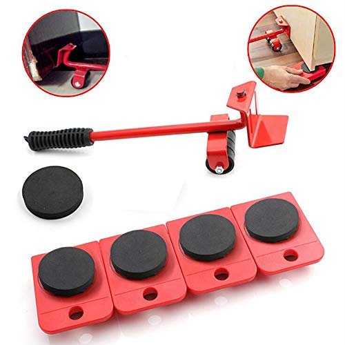 DIYARTS 5Pcs Furniture Lifter Mover Transport Set Easy To Move Furniture Slides Kit with Good Helper Suitable for Sofas,Couches And Refrigerators