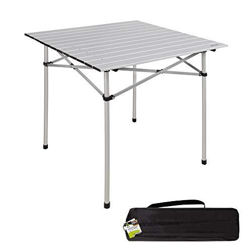 Aktive 52840 - Mesa camping plegable de aluminio 70x70x70 cm Camping
