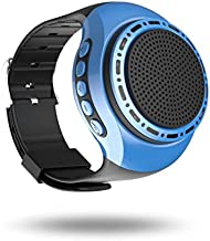 Bluetooth Speaker Watch Portable Wearable Mini Sport Wireless Bluetooth 4.0 Stereo Subwoofer with Any Smarter Phone (Blue)