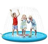 Jasonwell Sprinkle & Splash Play Mat 68' Sprinkler for Kids Outdoor Water Toys Fun for Toddlers Boys Girls Children Outdoor Party Sprinkler Toy Splash Pad