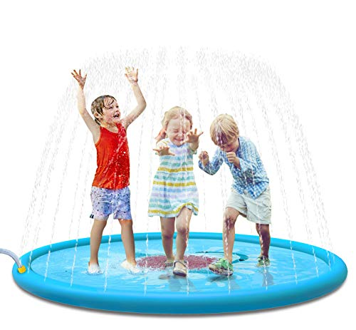 Jasonwell Sprinkle & Splash Play Mat 68' Sprinkler for Kids Outdoor Water Toys Fun for Toddlers Boys...