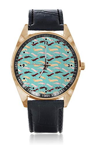 Choeter Aquarium Amphibian Custom Personalisierte Herren Damen Armbanduhr Wasserdicht Edelstahl Quarz Armbanduhr mit austauschbarem Lederband