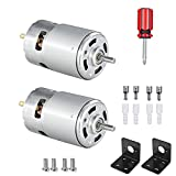 775 DC Motor DC 12V - 24V Max 10000RPM - 20000RPM Ball Bearing Large Torque High Power Low Noise Gear Motor Electronic Component Motor 2pcs