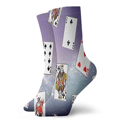 Calcetines deportivos unisex cmodos con tarjeta de pquer