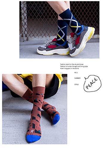 Unbekannt Générique Bedruckte Socken, für Herren aus Baumwolle, für Happy Funny Art Cool Personalisiert, Hip Hop Street Wear