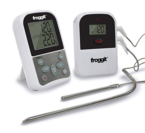 froggit Funk Grillthermometer SmokeMax Two BBQ Grill 2 Fühler Two Probes Smokerthermometer
