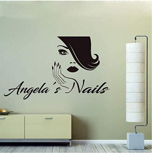 Nagelstudio Personalisierte Aufkleber Aufkleber Benutzerdefinierte Bilden Maniküre Decor Wandbild Nagellack Wanddekoration für Wand Poster 4271 Cm