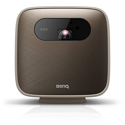 BenQ GS2 Mini vidéoprojecteur portable sans fil pour l'extérieur, Google Cast et AirPlay, haut-parleur Bluetooth, WiFi, application Smart TV, HDMI, USB-C